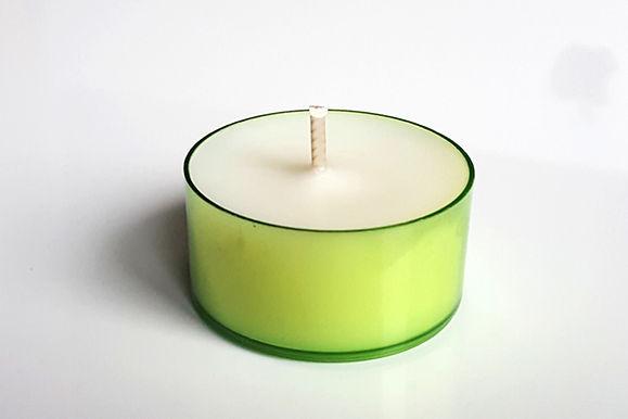 Grüne Teelichter Sojawachs