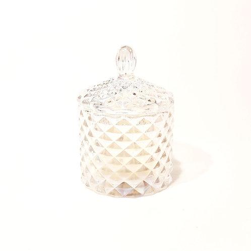 Karuselo Mini Bio Kerze Geo Muster Modern kaufen schweiz nachhaltig sojwachs glas kupfer