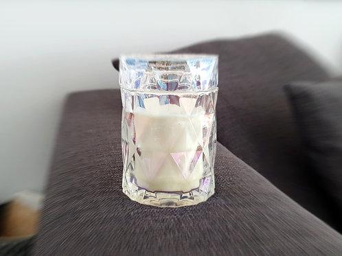 Qarat perlmut Bio Sojawachs Vegan Kerze by EQUINOX koral glass kerzen kaufen schweiz luxus hochwertig