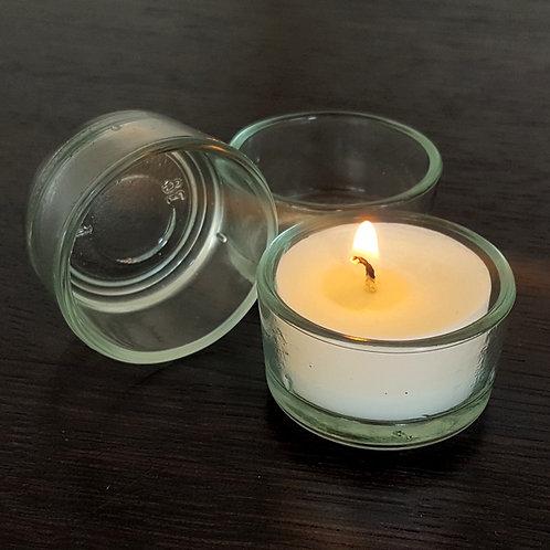 Klares Teelichtglas Mini für Rechaud-Kerzen
