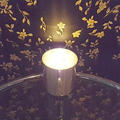 GLAMOUR silber - Bio Kerze