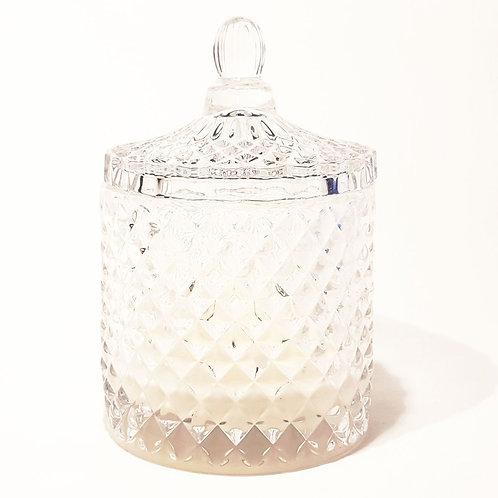 Karuselo Kristall-Klar Bio Kerze by EQUINOX glaskerze kaufen schweiz sojawachs luxus geschenk