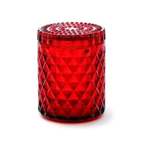 Memphis Rood Bio Kerze by EQUINOX rote biokerze kaufen schweiz glaskerze rot