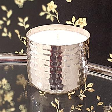 Metallum Silber Noppen - Bio Kerze