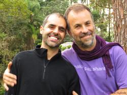 com Mauricio Bastos, em Retiro