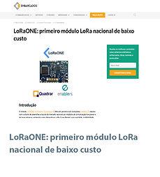 LoRaONE- primeiro módulo LoRa nacional d