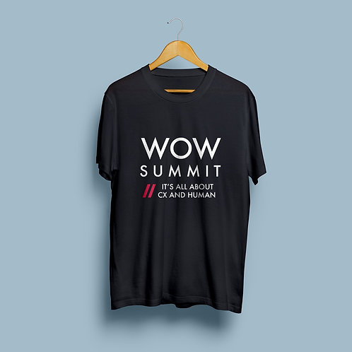 Camiseta WOW Summit: It's all about CX and Human