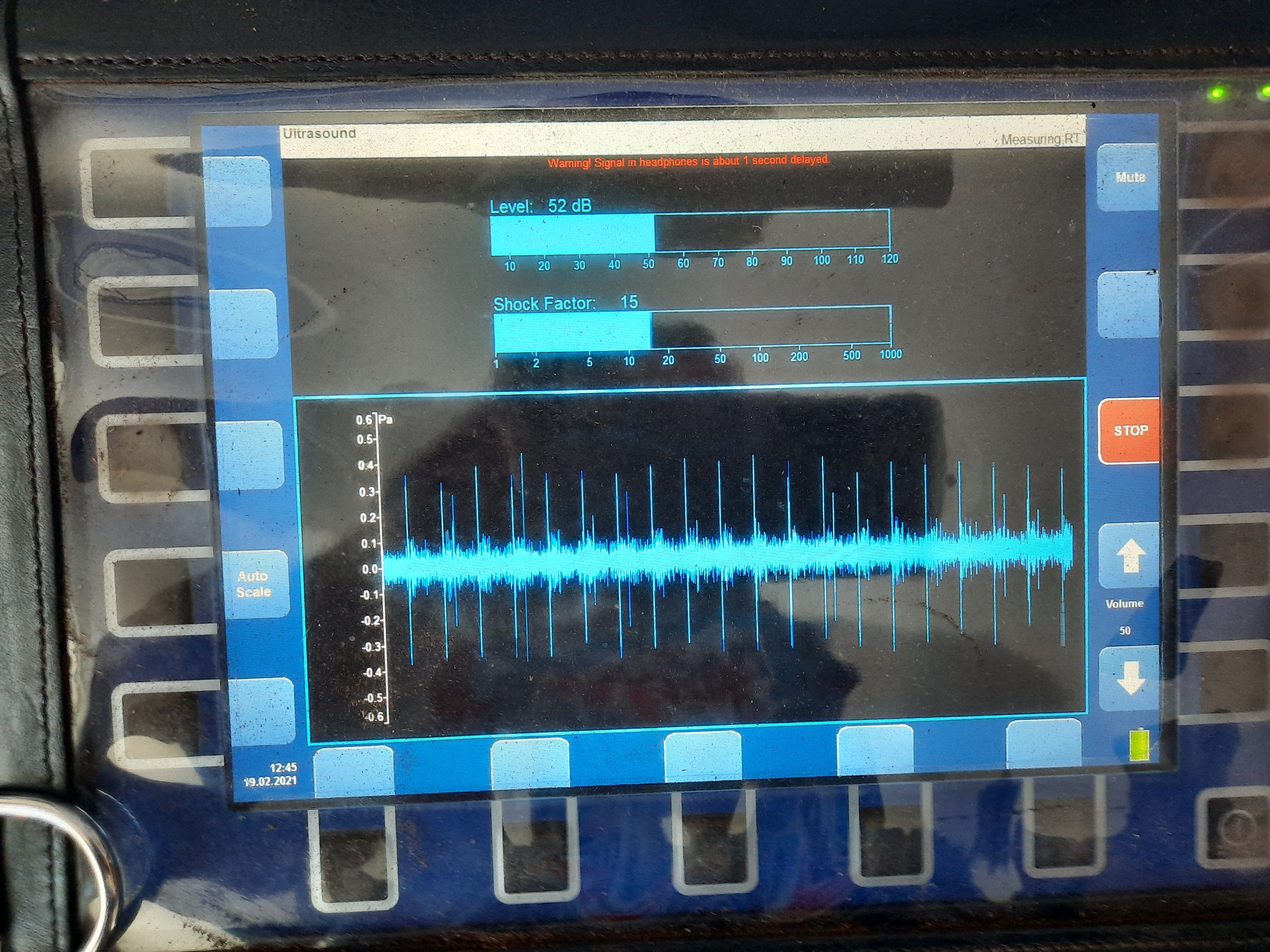 Ultrasonic sound testing