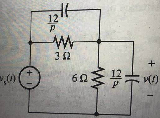 Solving RC Circuit with the Heavyside Operator Method