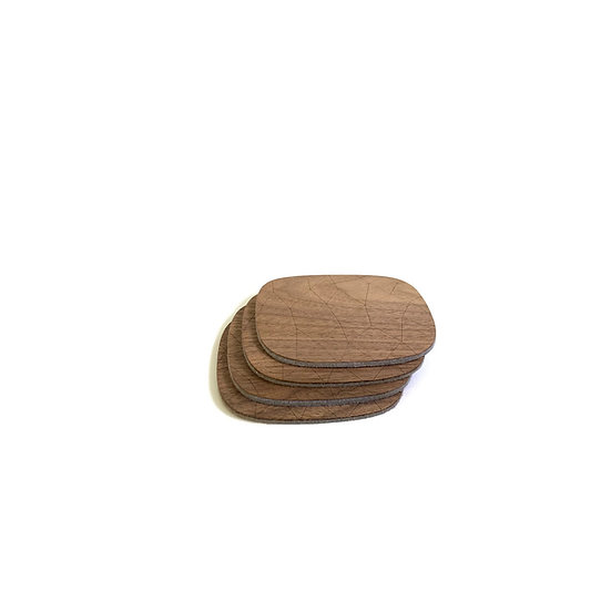 Walnut Coasters - Set of 4