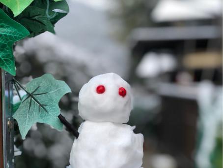 雪がやっとつもりました