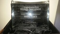3rd place award