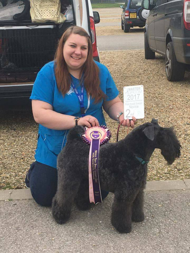 Me and poppy after mastergroom 2017