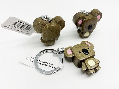 Cube Head Koala Keychain (Eco-friendly), animal keyring