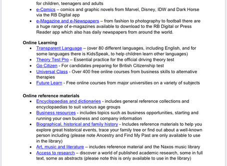 Free library resources