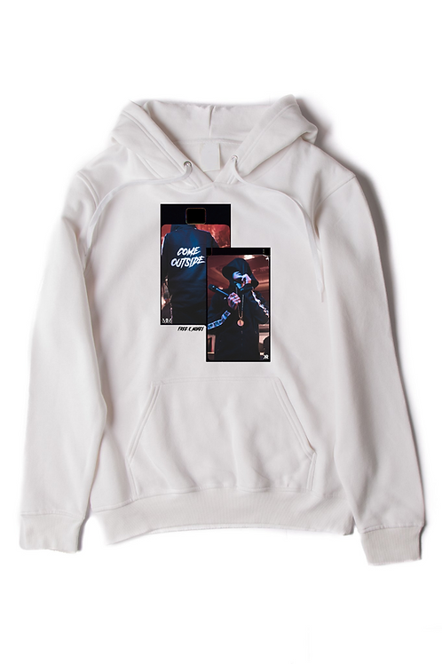 WHITE K MONEY COME OUTSIDE HOODIE