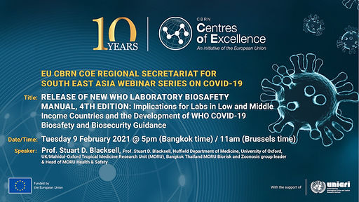 CoE_SEA_WHO Laboratory Biosafety Manual,