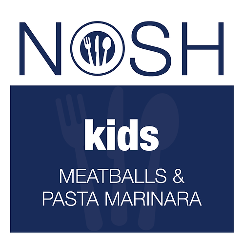 Kids Meatballs with Pasta Marinara