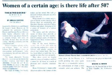 Women of a certain age: is there life after 50?, diario Herald.