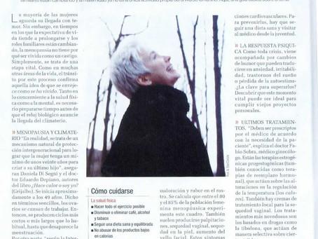 Climaterio, una etapa vital, Revista del diario La Nación.