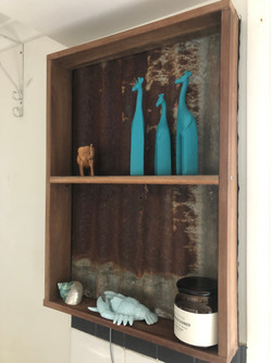 Spotted Gum and Iron shelf