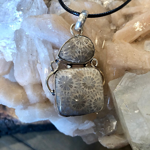 Fossilized Agatized Coral Necklace