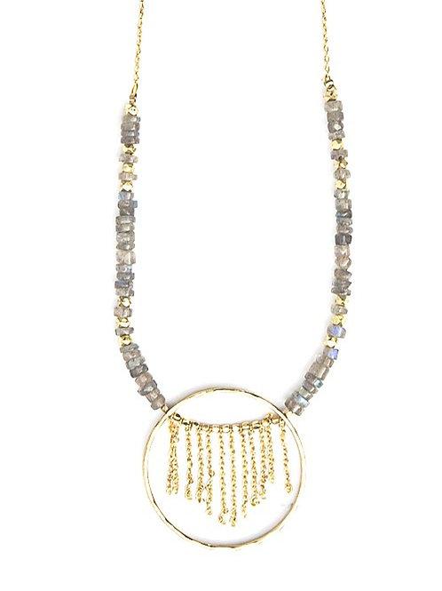 Labradorite Brass Necklace