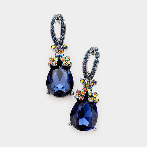 Crystal Rhinestone Evening Earrings