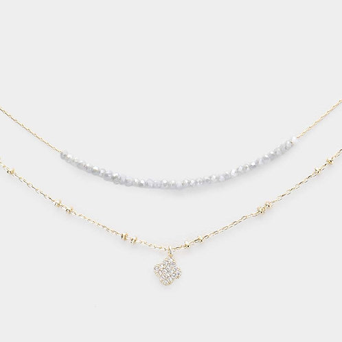 Lucky Clover Double Layered Necklace
