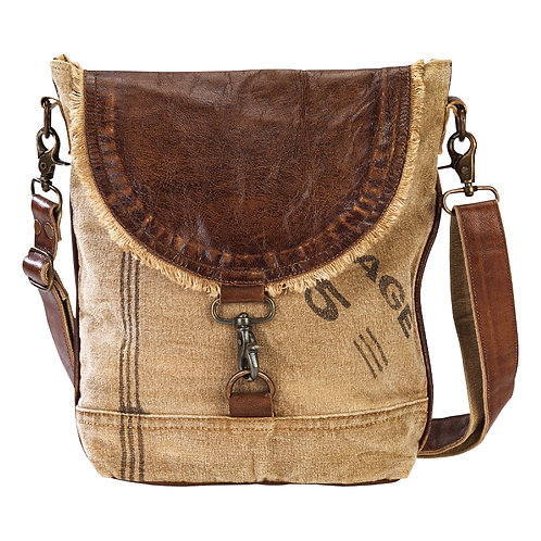 "Leather Flap ""Postage"" Shoulder Bag"