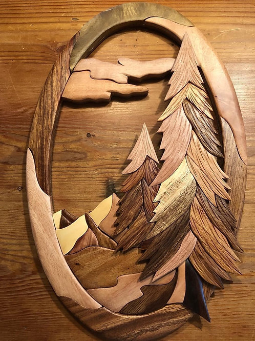 Wooden 3D Wall Hanging