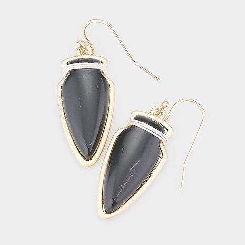 Stone Arrow Dangle Earrings