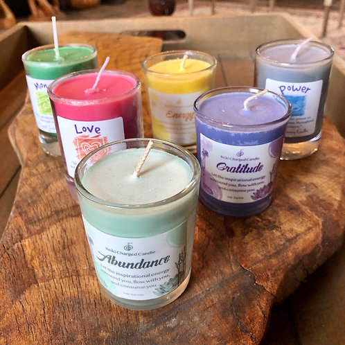 Intention Votive Candles in Glass