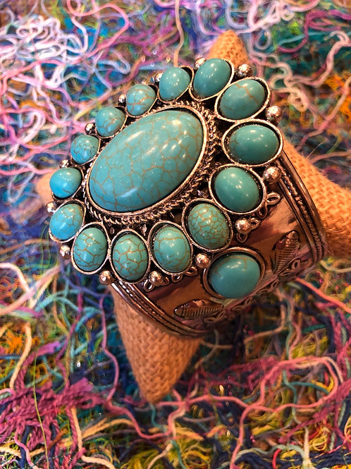 Buffalo Turquoise Cuff Bracelet