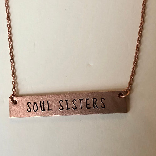 Bar Message Necklace