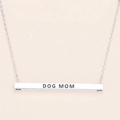 Dog Mom / Cat Mom Bar Necklace