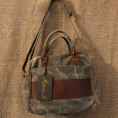 Mona B Canvas & Leather Handbag