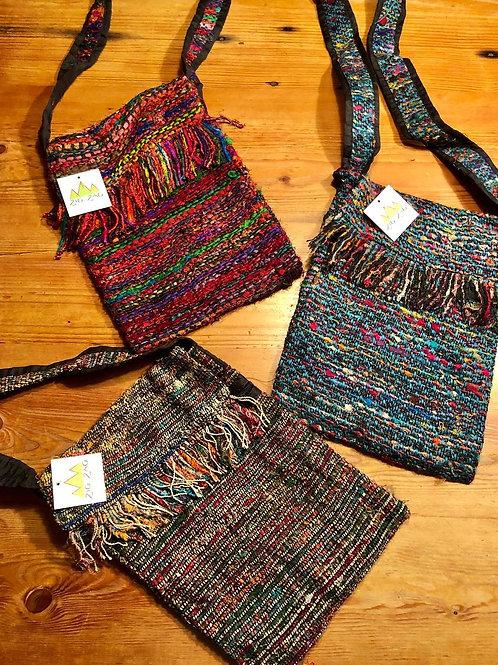 Silk Fabric Crossbody Bag