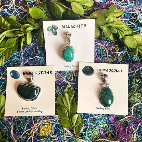 Sterling & Gemstone Pendants