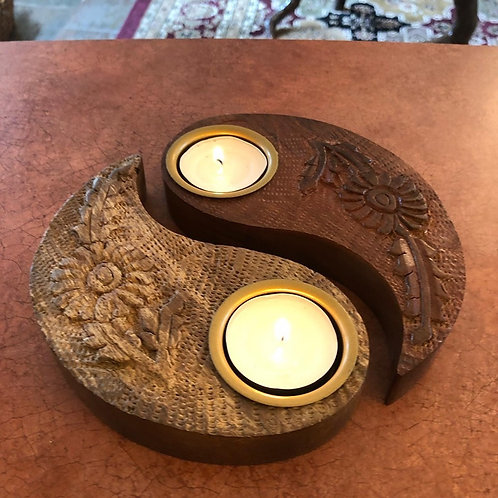 Yin Yang Tealight Candle Holder