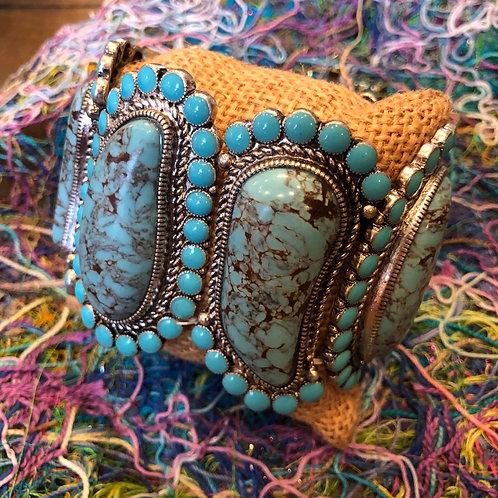 Tribal Turquoise Stretch Bracelet