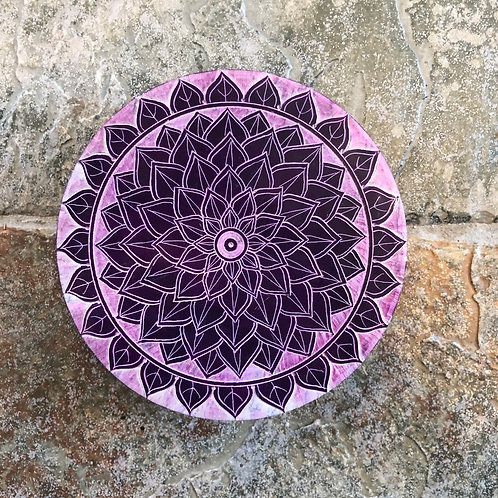 Handcarved Soapstone Mandala Box