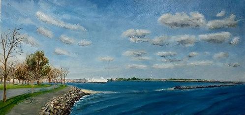 Seaside Park Bridgeport Painting