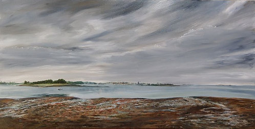 Harborview Beach in South Norwalk by artist Jason Pritchard