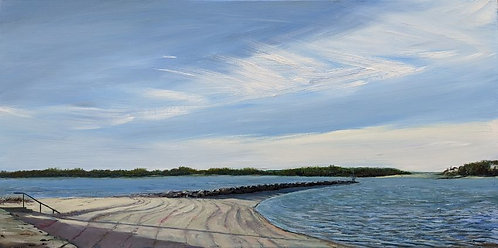 Megansett Beach-Oil-Painting-in-Cape Cod-by-artist-Jason-Pritchard