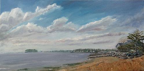 Canal Beach in Westport, CT by artist Jason Pritchard