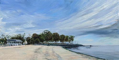 Bayley Beach in Rowayton by artist Jason Pritchard