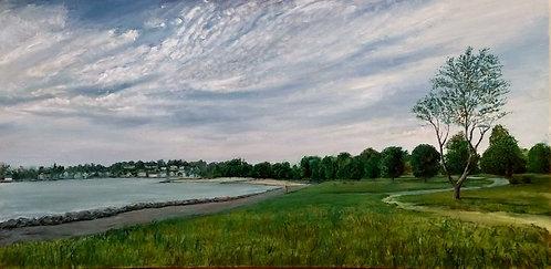 Sherwood Island State Park Painting by Artist Jason Pritchard