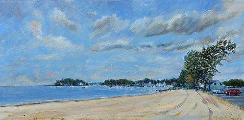 Pear Tree Point Beach in Darien by Artist Jason Pritchard