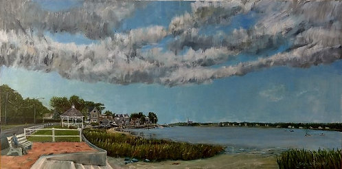 Marvin Beach in East Norwalk painting by Jason Pritchard